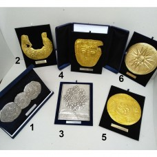 Plaques large (silver-plated, gold-plated)