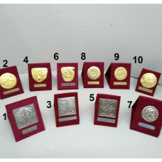 Plaques small (silver-plated, gold-plated)
